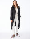 EcoPlume™ Knit Trimmed Hooded Maxi Coat