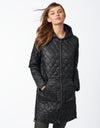 Recycled Polyester Quilted Long Jacket