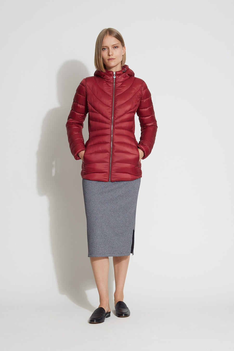 EcoPlume™ Puffer Short Hooded Jacket - Bernardo Fashions