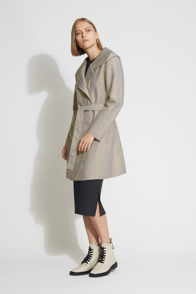 Knit Hooded Coat - Bernardo Fashions