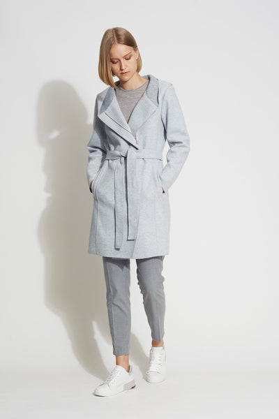 Knit Wool Hooded Coat - Bernardo Fashions
