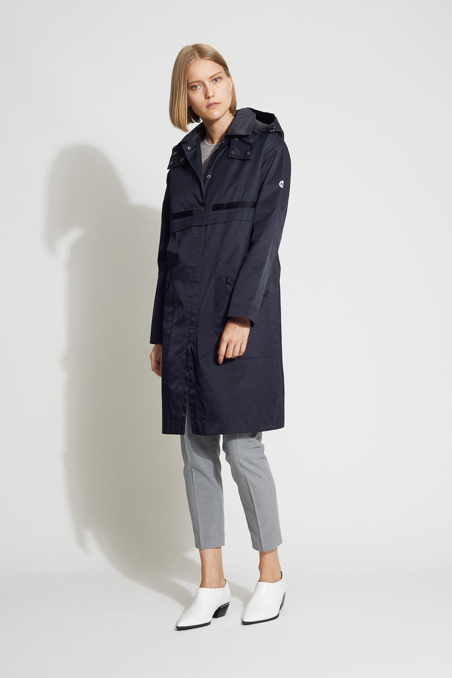 Long Hooded Raincoat - Bernardo Fashions