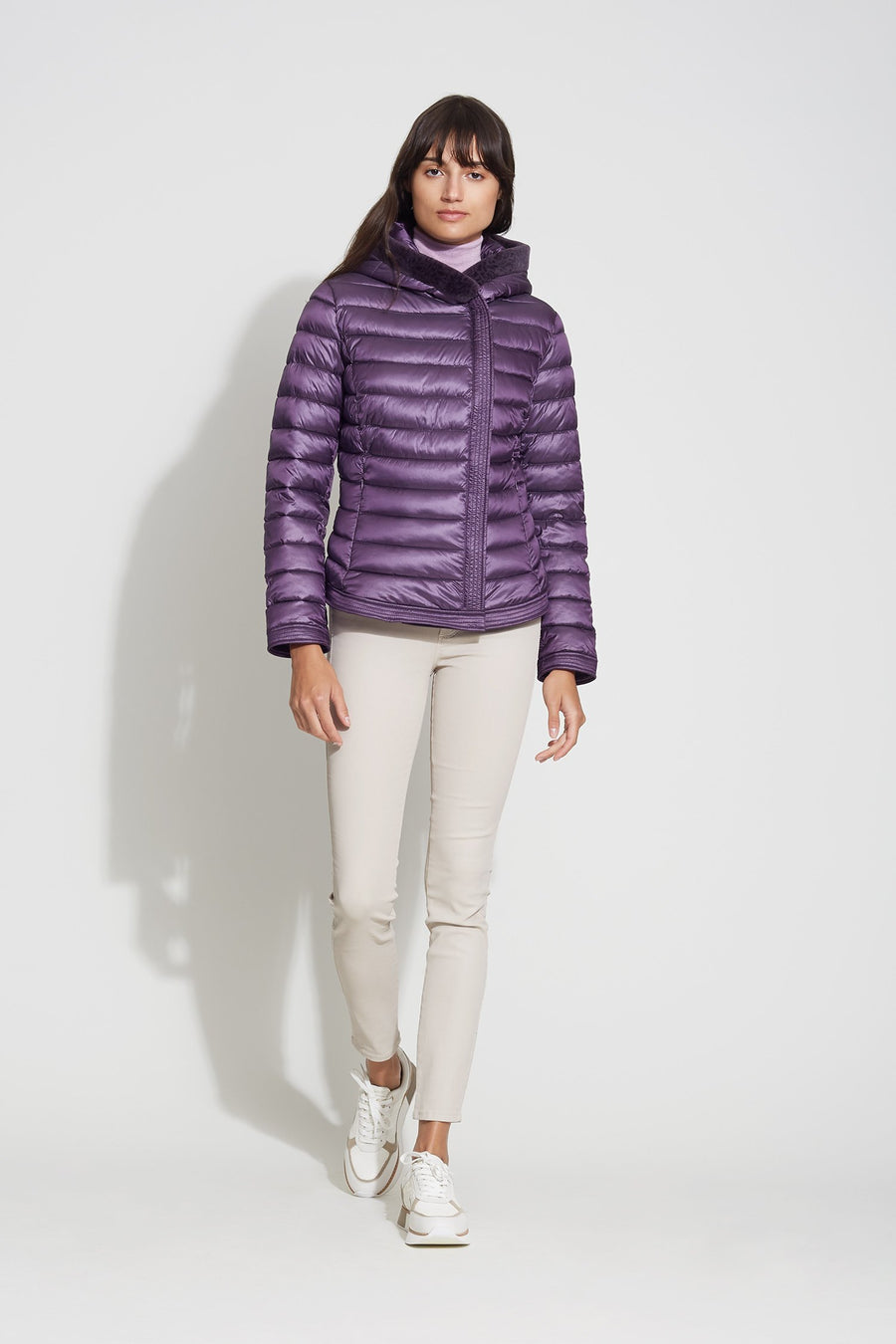 Lust Fabric Puffer with Faux Fur Trim - Bernardo Fashions