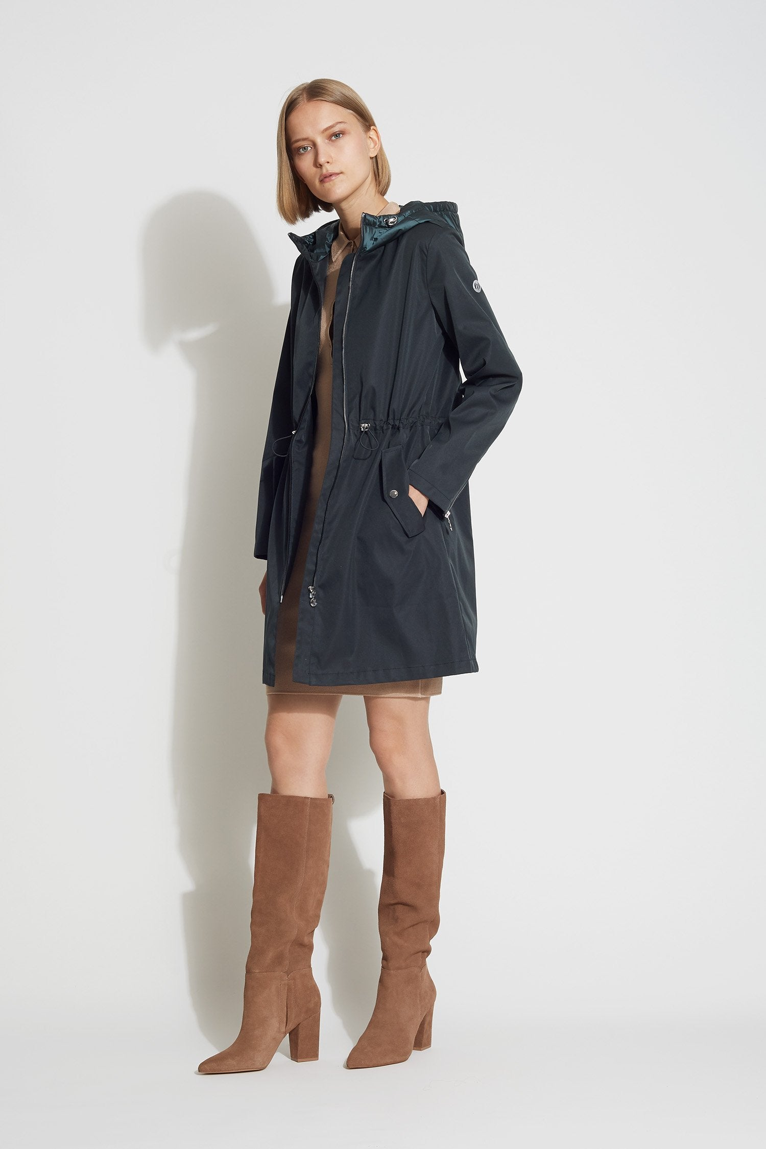 new concept dc071 05589 Micro-Breathable Cinched Waist Parka