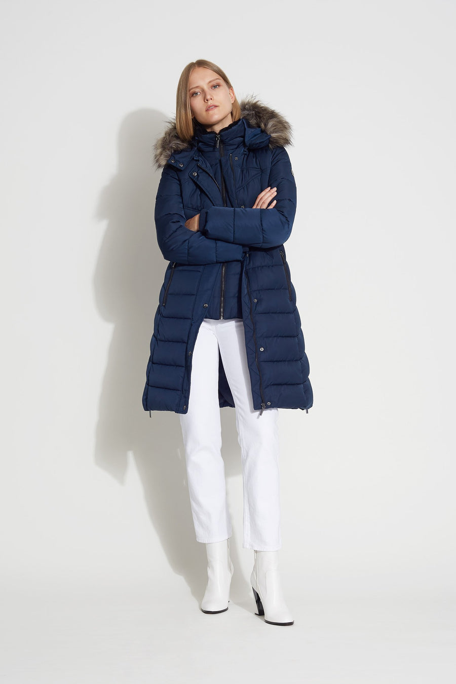 Removable Hooded Puffer - Bernardo Fashions