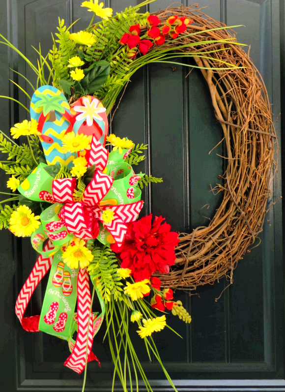 Flip Flop Grapevine Wreath
