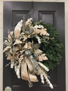 rustic elegant christmas wreath - Elegant Christmas Wreaths