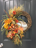 "18"" Fall Pumpkin Wreath"