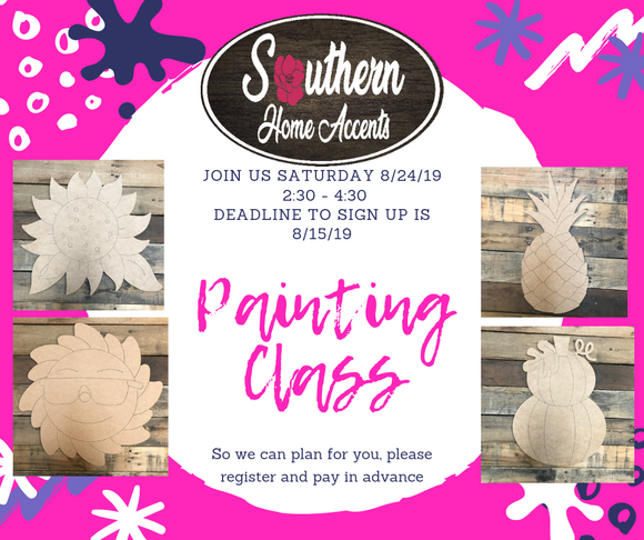 Painting Class 8/24/19