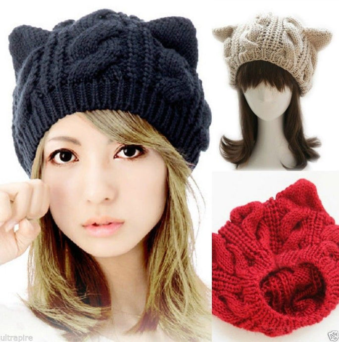 Knitty Kitty Winter Cap - FREE SHIPPING!