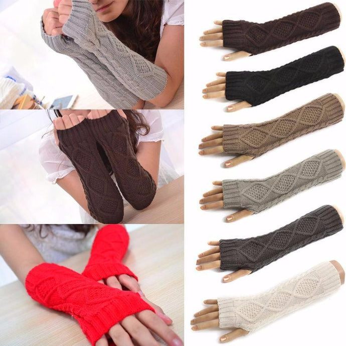 Fingerless WOOL Long Gloves - FREE SHIPPING!!