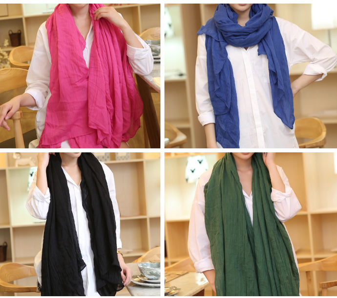 Warm and cozy linen scarf - FREE SHIPPING!