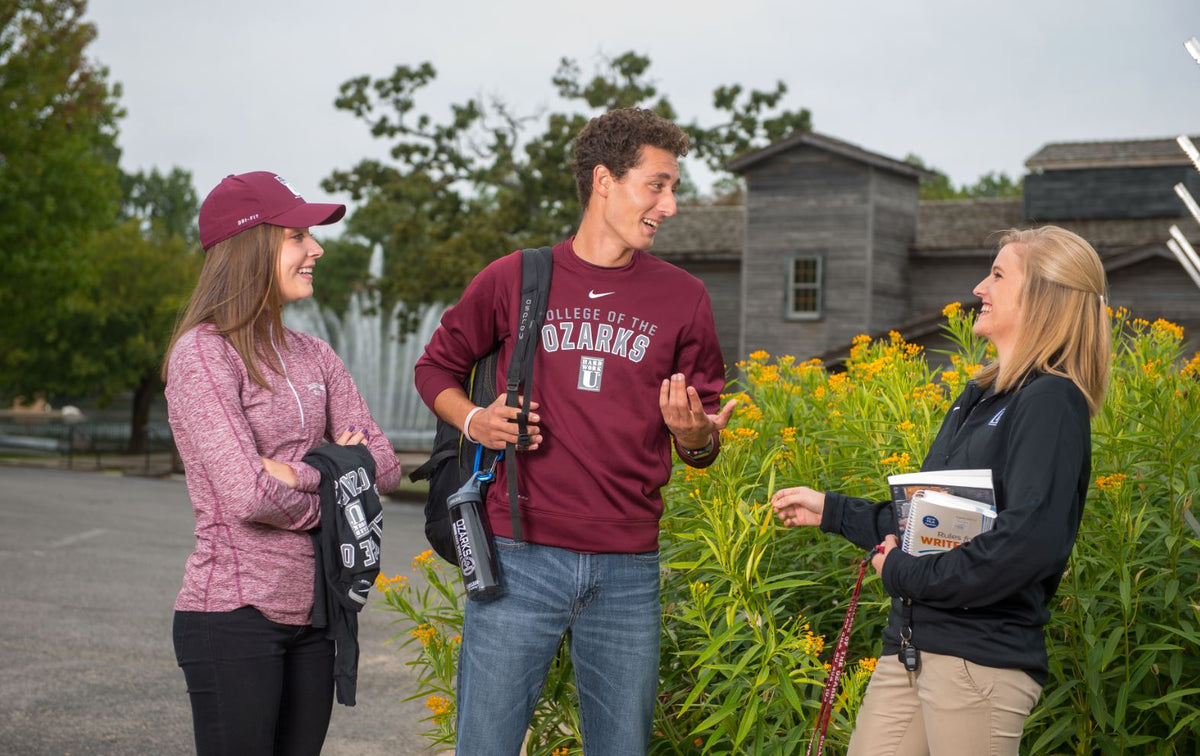 Students wearing College apparel