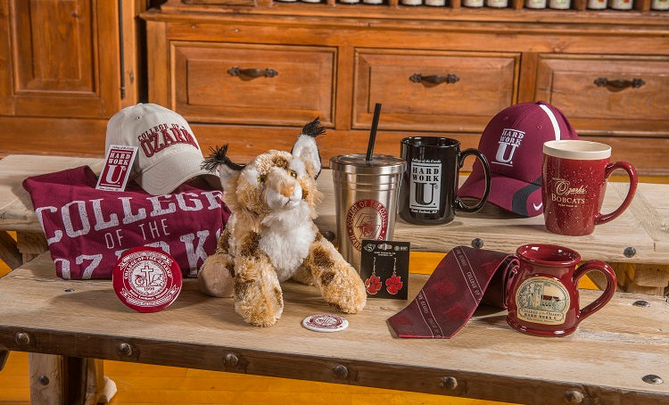 Assorted College of the Ozarks gift items