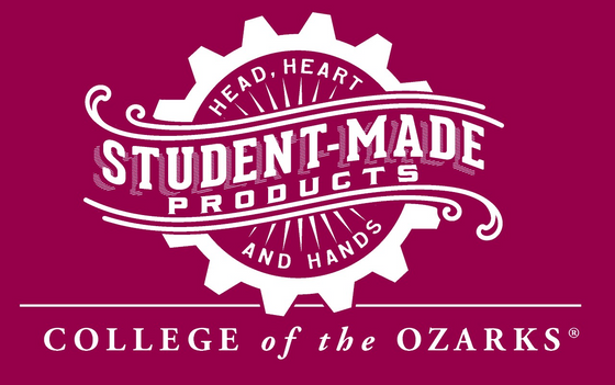 Student-made products logo for the Campus Store at the College of the Ozarks