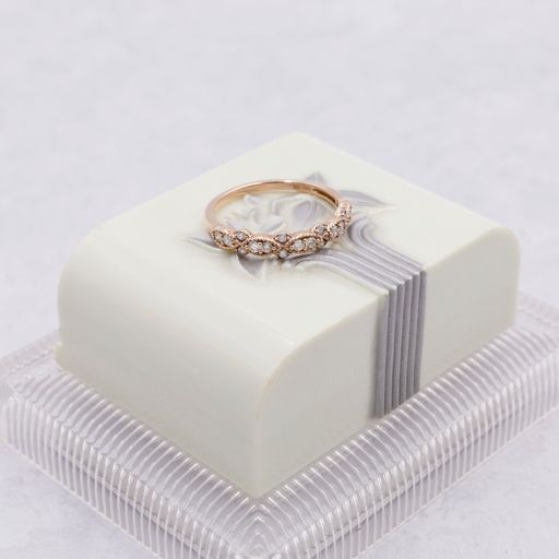 Stackable Diamond and Yellow Gold Band