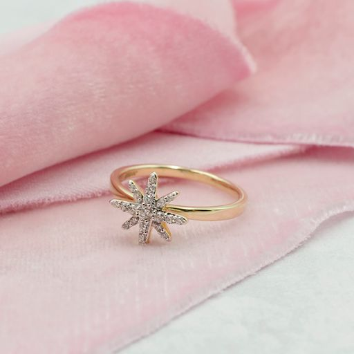Diamond Starburst Statement Ring