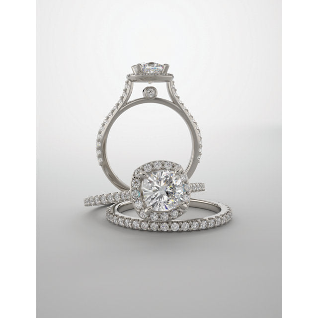 SURI, Cushion Halo Engagement Ring