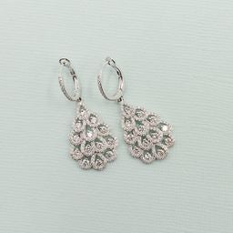 Diamond Tiered Chandelier Earrings
