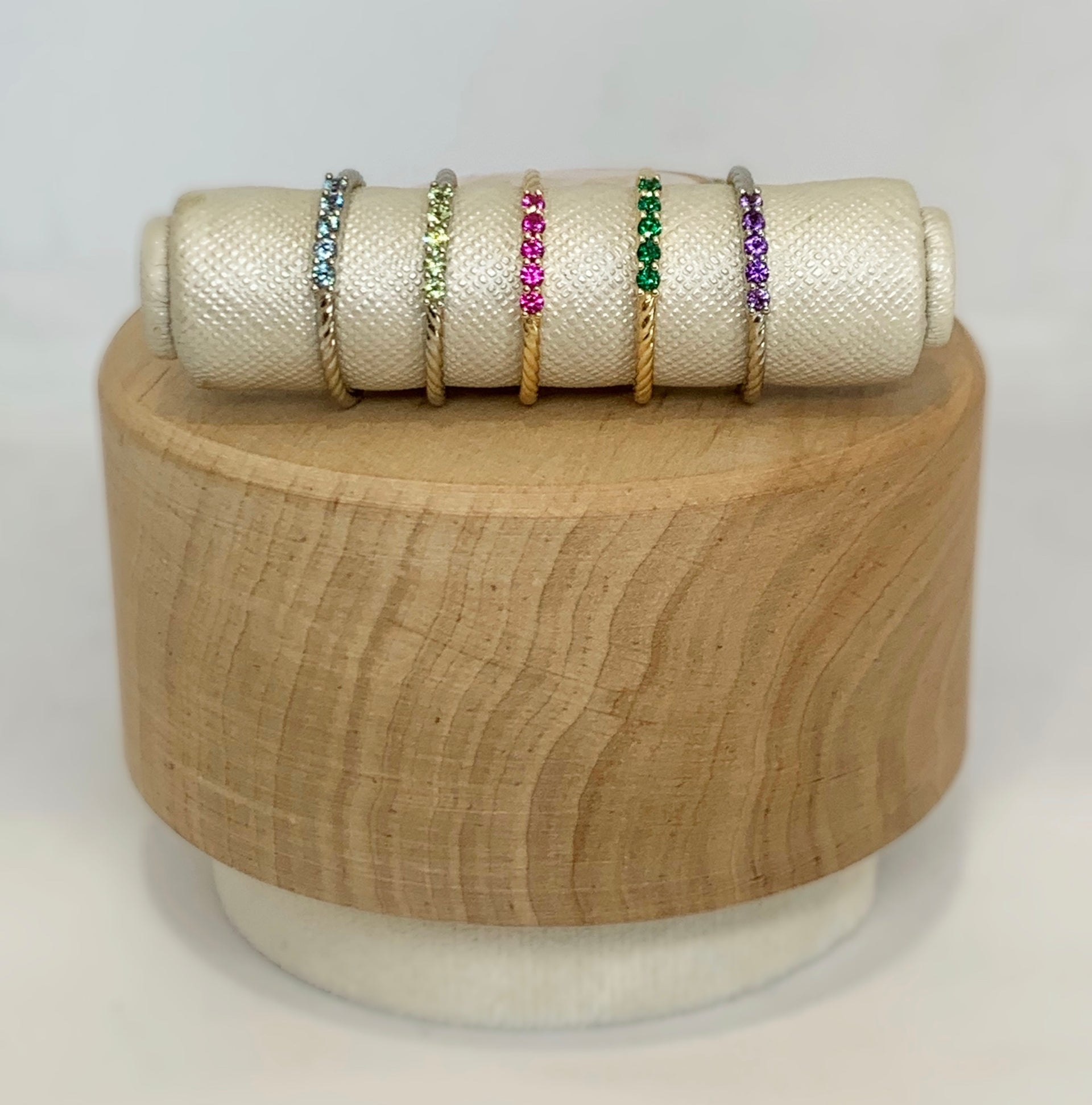 Clara Peridot Stackable Ring