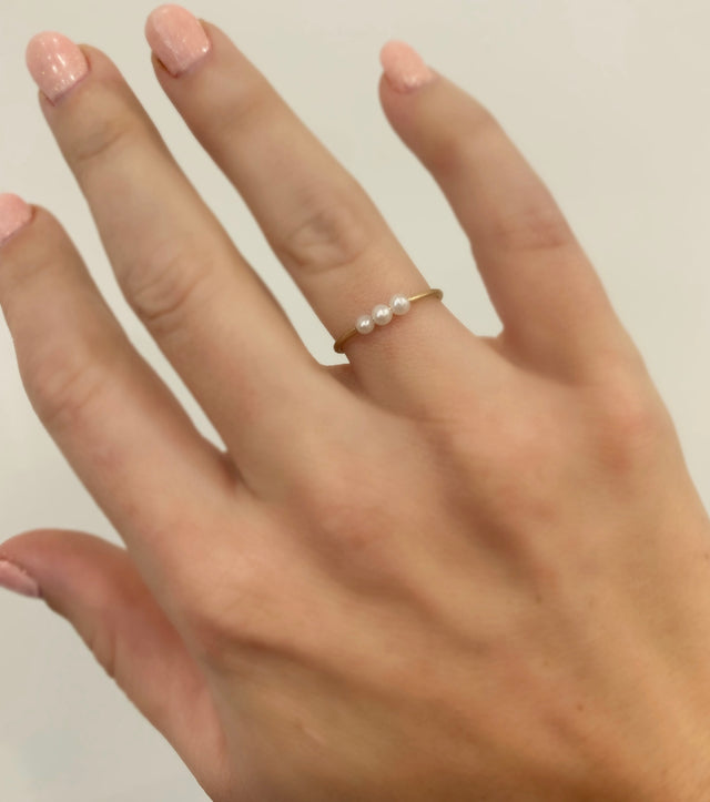 Lindsay Pearl Stackable Ring