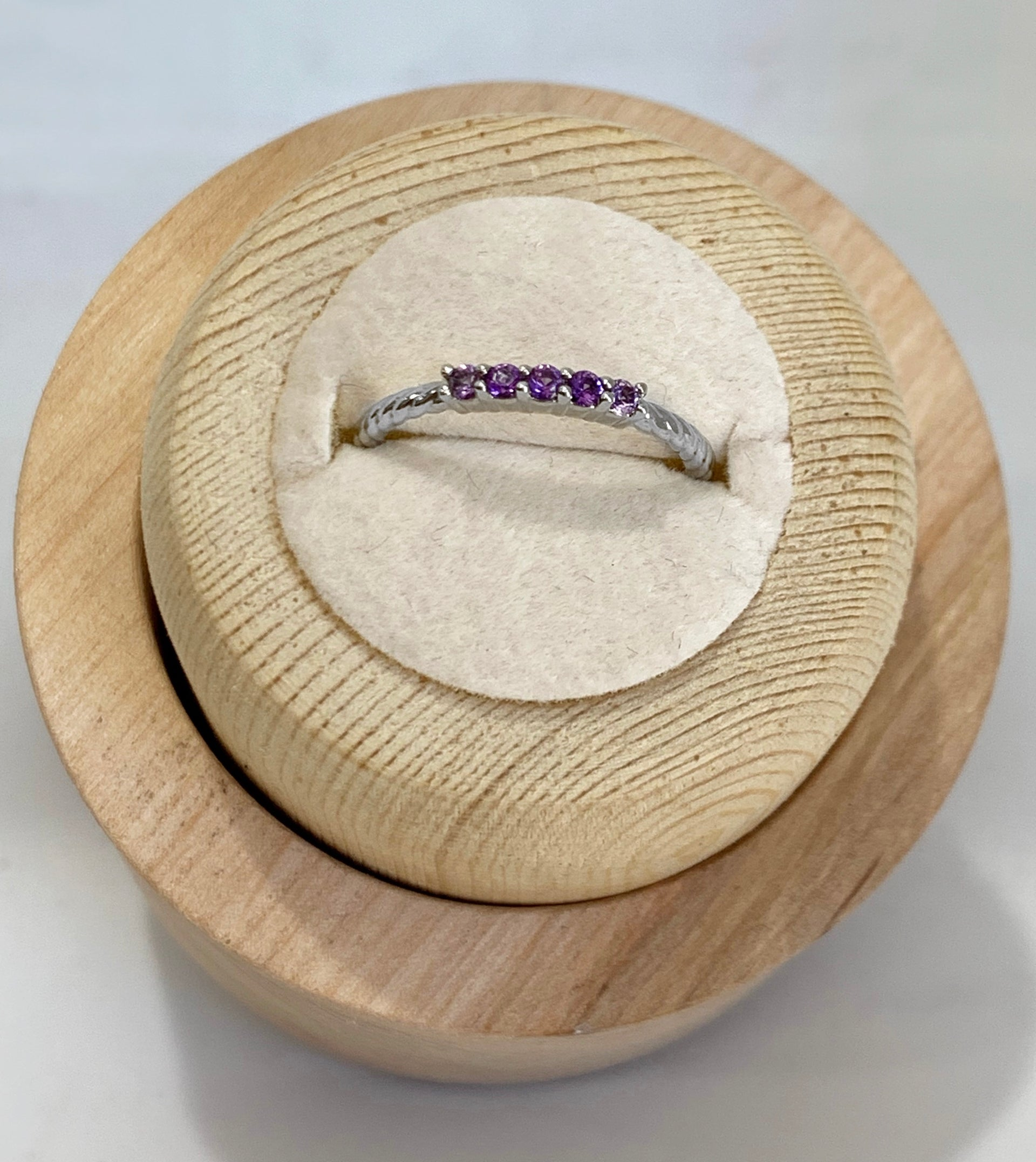 Gwen Amethyst Stackable Ring