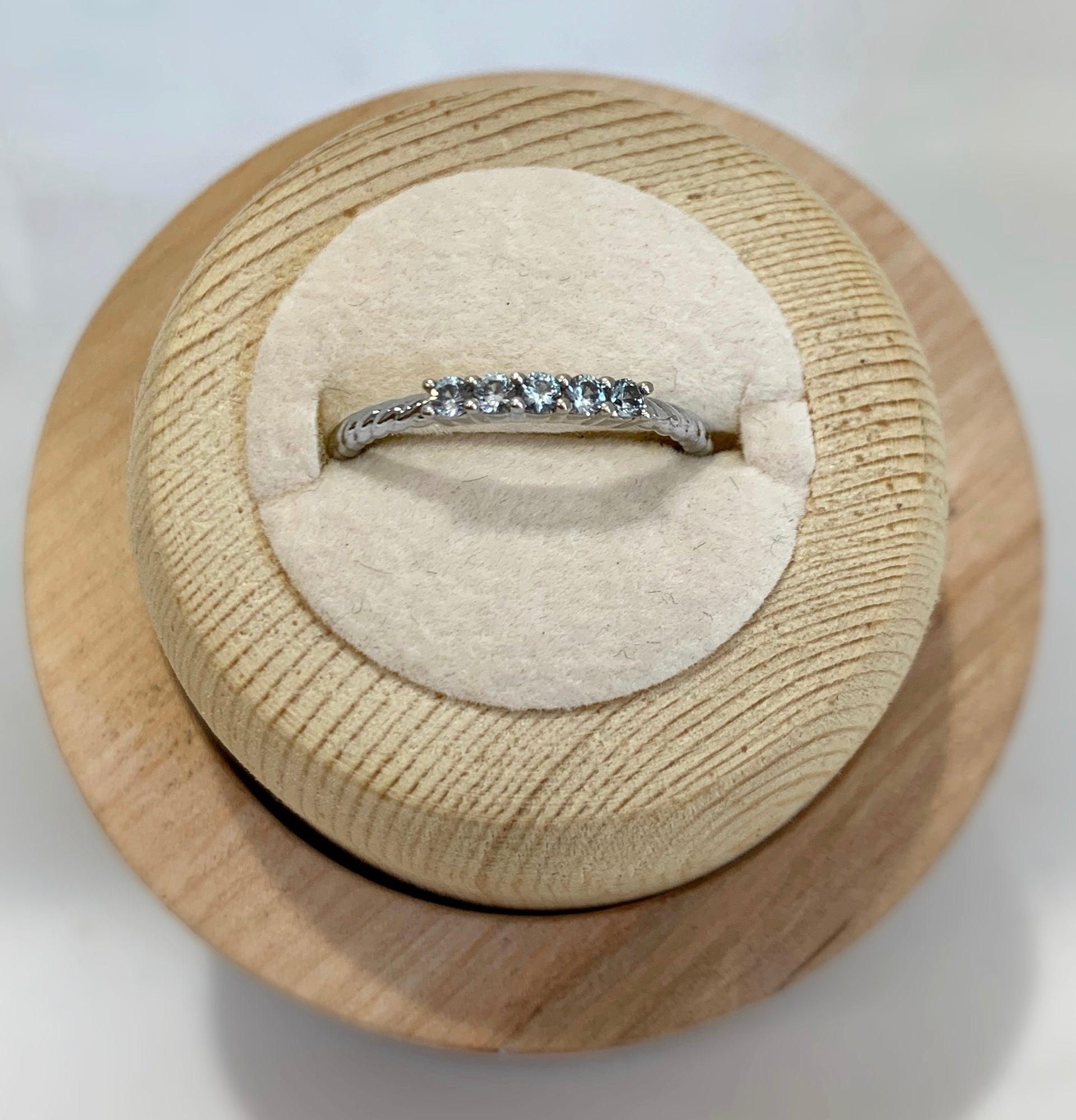Emma Aquamarine Stackable Ring