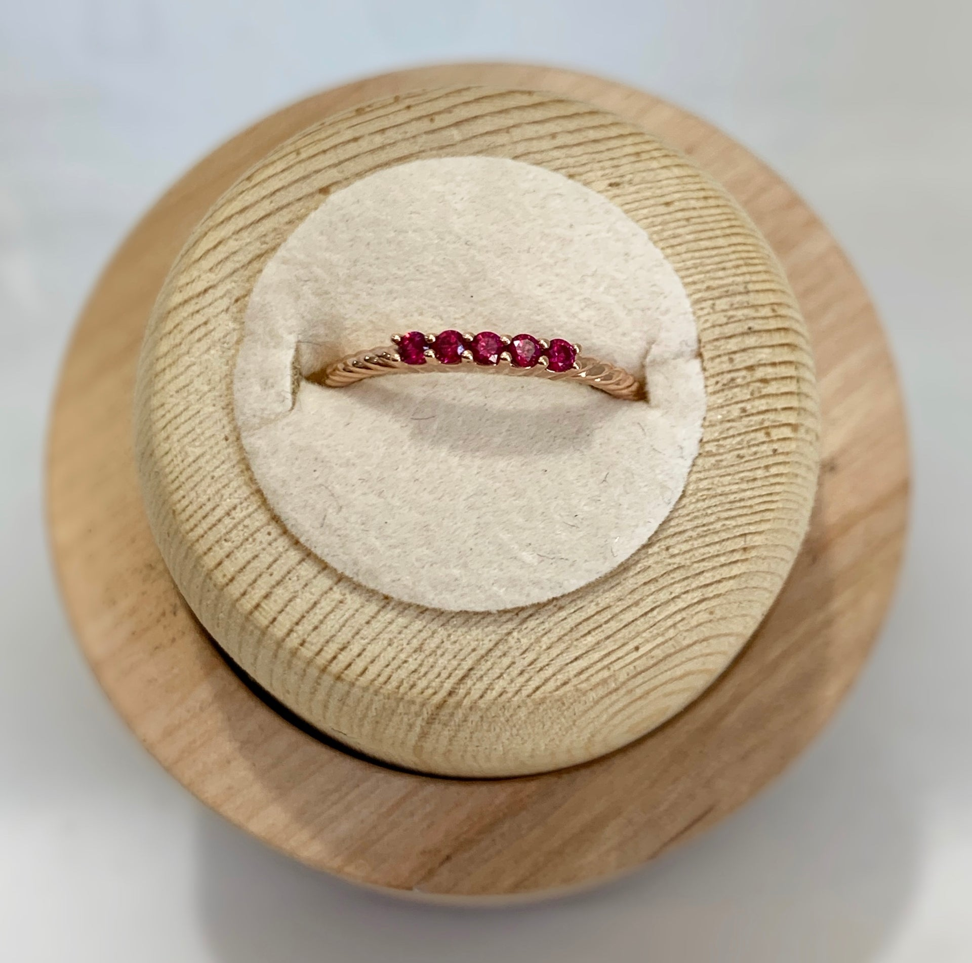 Lynda Garnet Stackable Ring