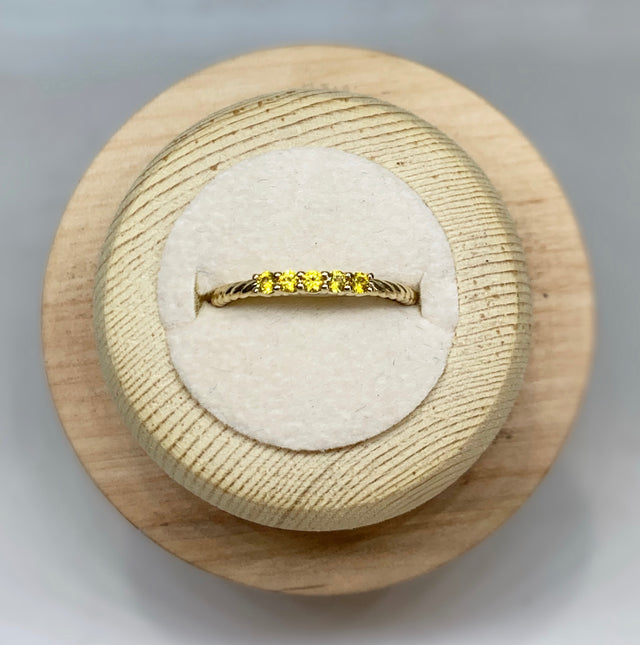 Kelly Citrine Stackable Ring
