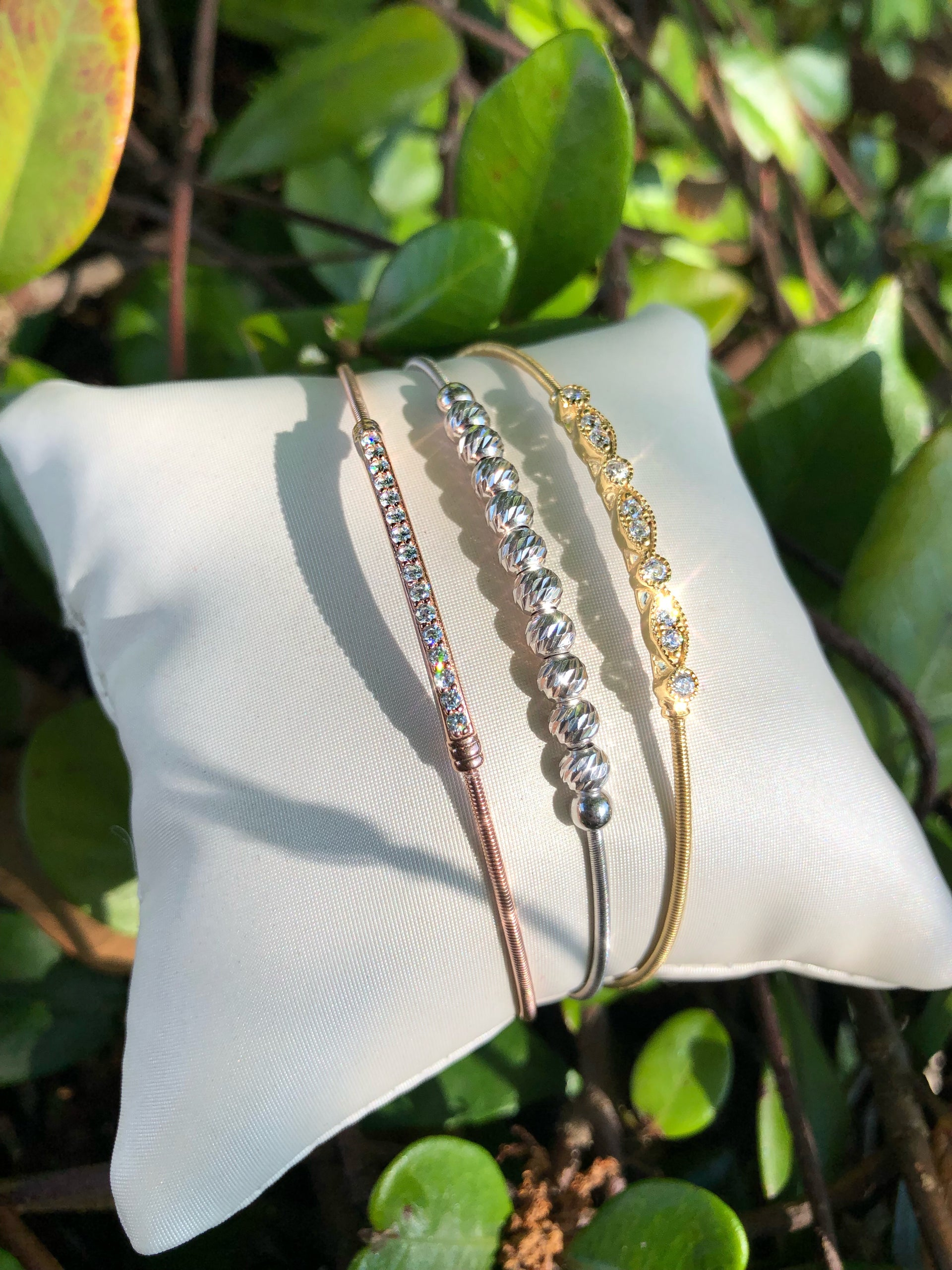 Gold Finish Bella Cavo Italian Cable Bracelet with Marquise Cluster Simulated Diamond Accents