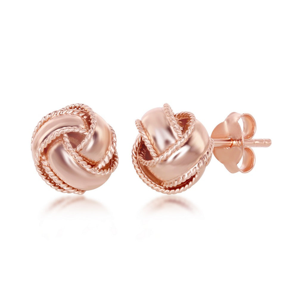 Rope Love Knot Stud Earrings
