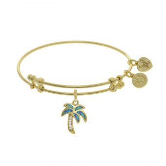 Angelica Opal Palm Tree Charm Bracelet
