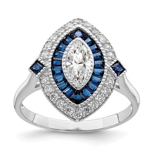 Art Deco Style Marquise Halo Ring