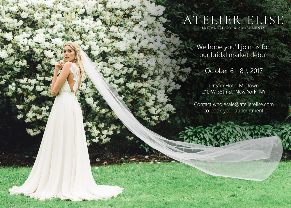 We hope you'll join us for our debut bridal market