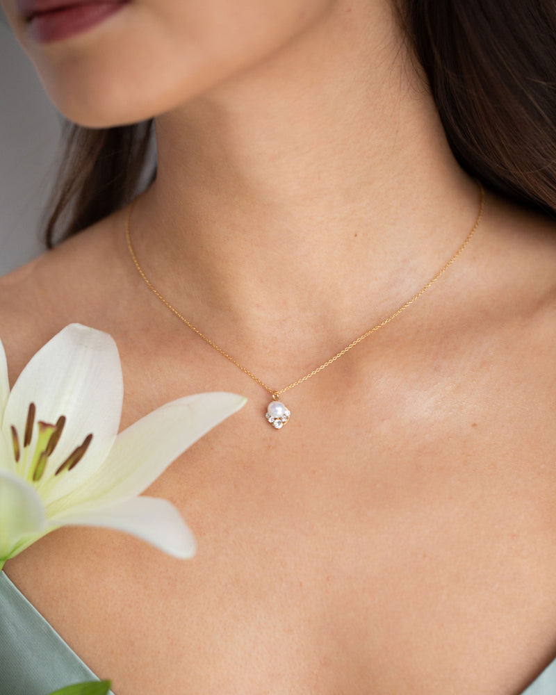 Petite Celestial Pearl Drop Necklace