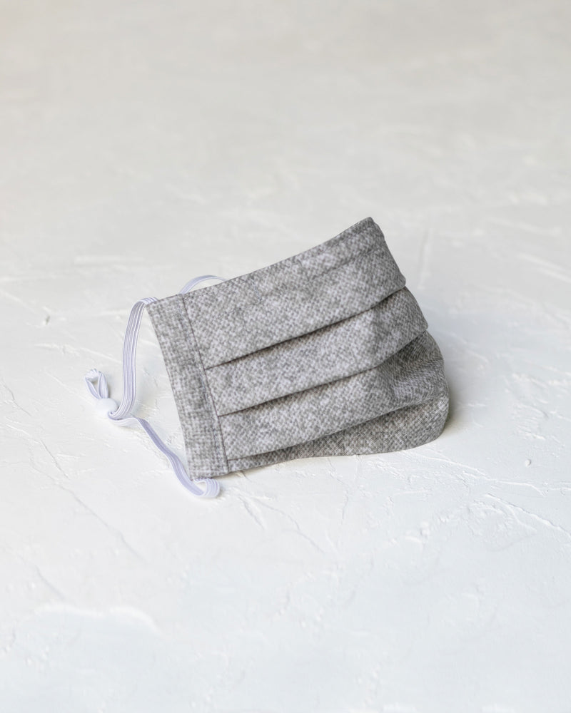 Pleated Cotton Face Mask