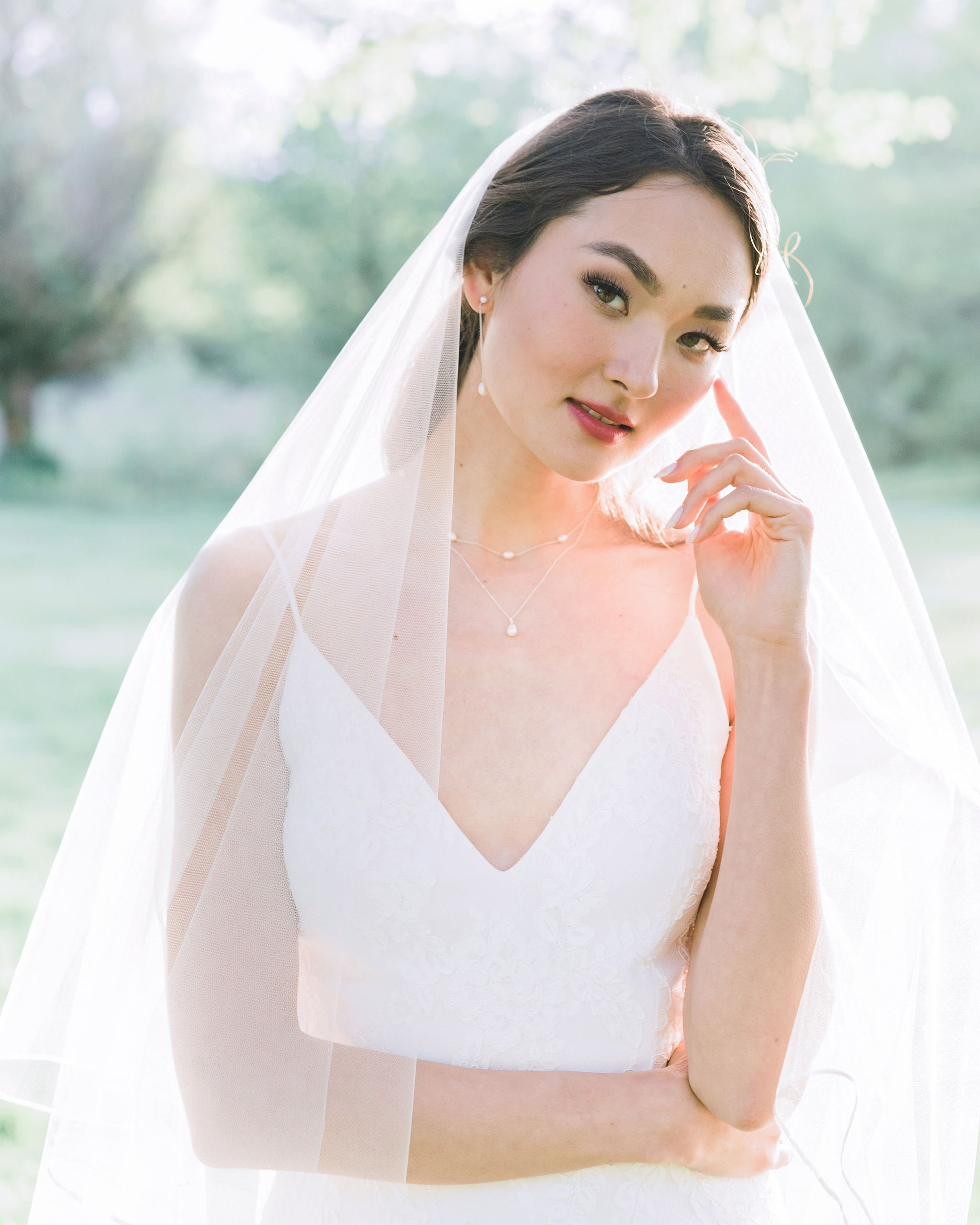 Calla Ribbon Long Veil