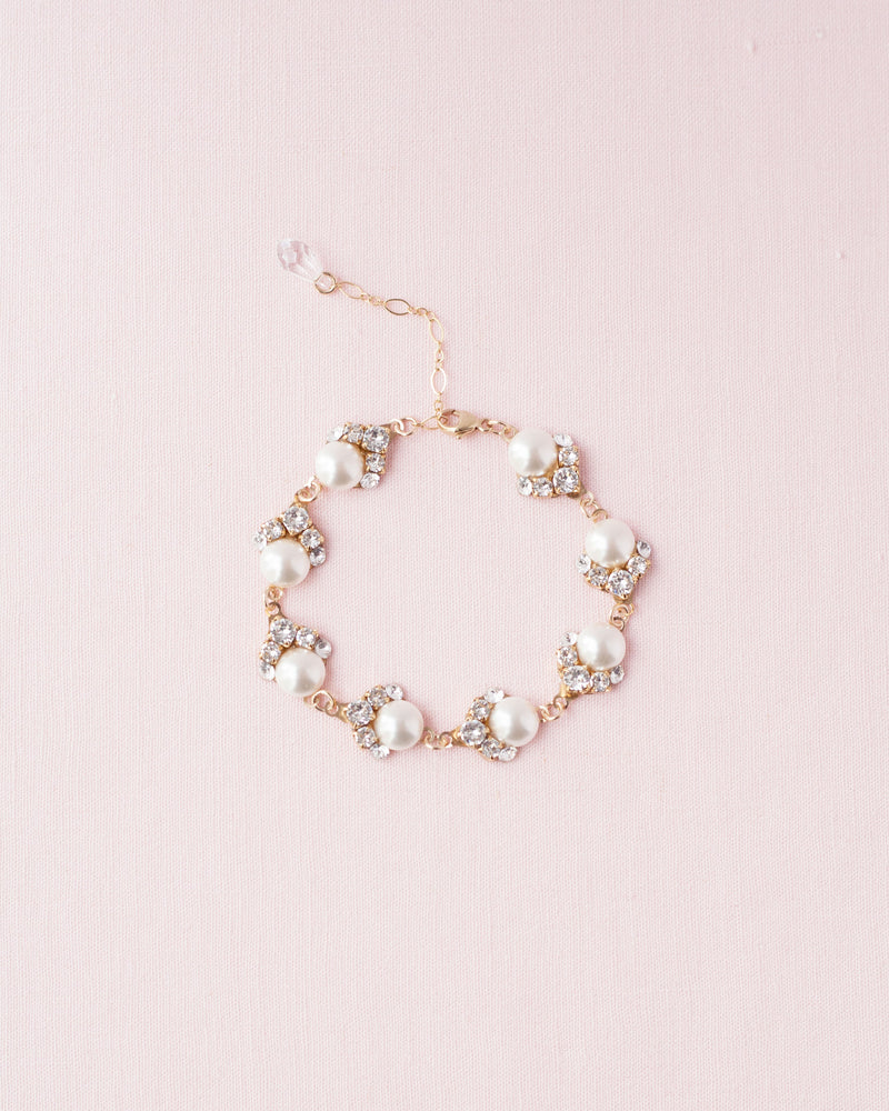 celestial cluster pearl bracelet gold bridal jewellery