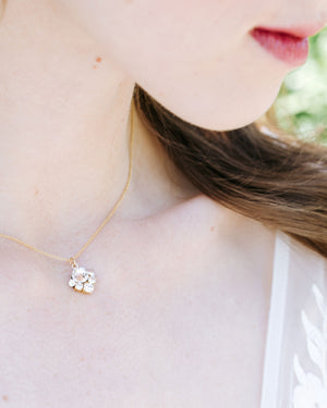 Celestial Crystal Drop Necklace