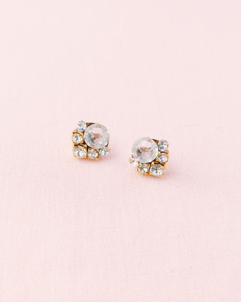 celestial swarovski crystal stud earrings cluster bridal jewelry