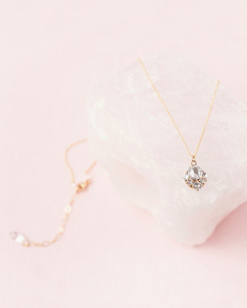 jewelry celestial crystal bridal necklace gold