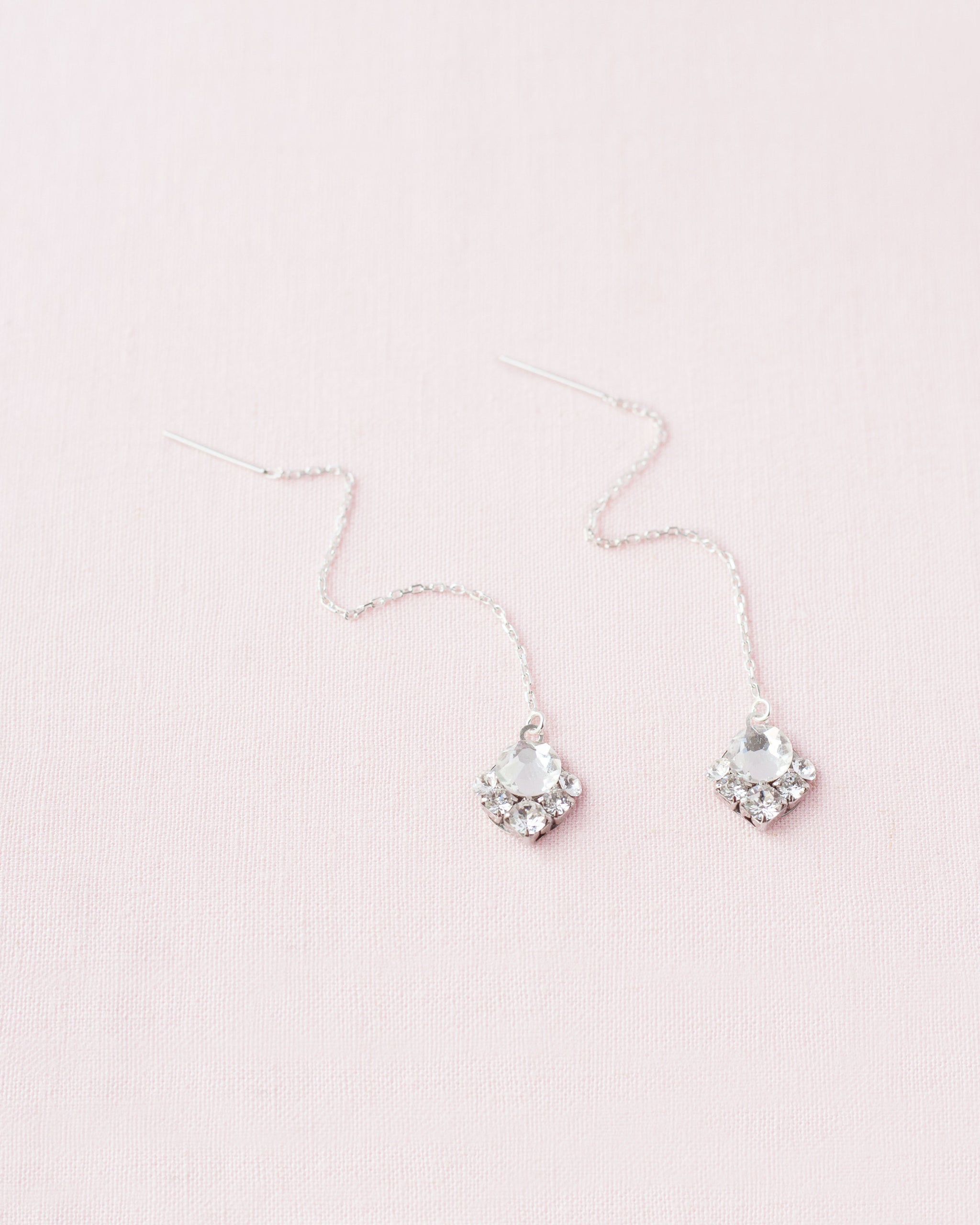 Celestial Crystal Threader Earrings