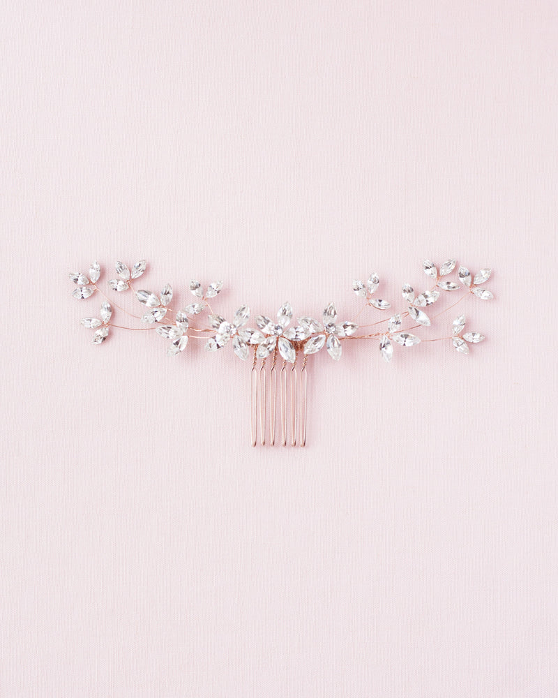 Crystal Blossoms Comb