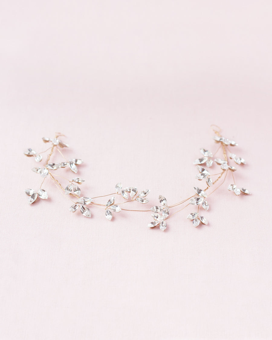 Crystal Blossoms Hair Vine