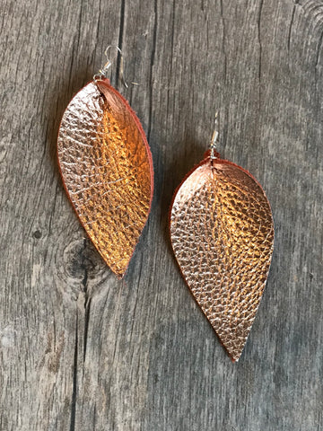 Hammered Teardrop Hoop Earrings