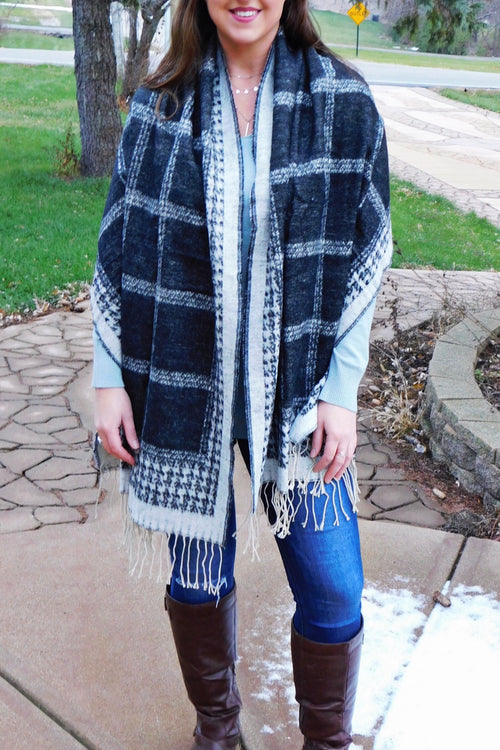 Two Faced Double Sided Scarf/Poncho