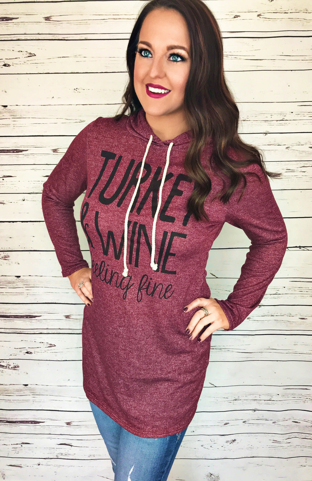 Feeling Fine Holiday Hoodie - LURE Boutique