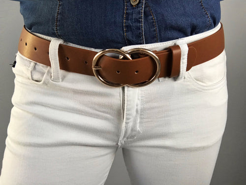 Talia Faux Leather Belt - Camel