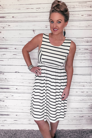 Charleston Striped Maxi