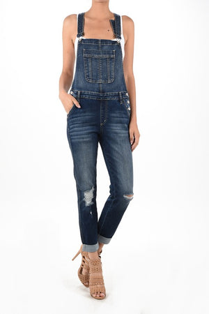 Distressed KanCan Overalls - LURE Boutique